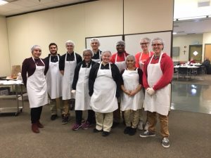 Bishop Luers Students assisting at Ash Wednesday Luncheon